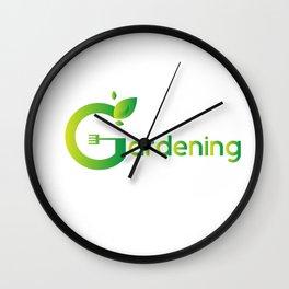 Gardening Mom Wall Clock