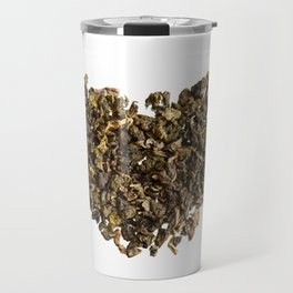 Dried and curled leaves of Oolong Travel Mug