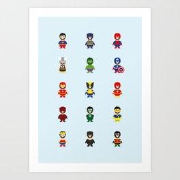 Really Super Marios Art Print