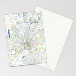 Indianapolis' POP urban map Stationery Cards