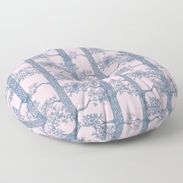 Pine Forest (Pink and Blue) Floor Pillow