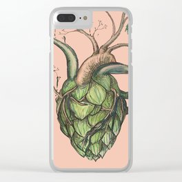 Heart Hops in Pink Clear iPhone Case