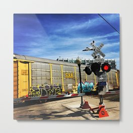 railroad crossing Metal Print