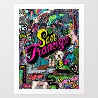 san francisco Art Prints featuring San Francisco by Chris Piascik