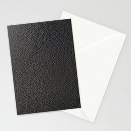 Black faux leather Stationery Cards
