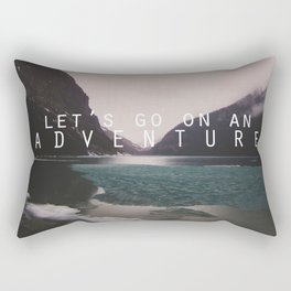 let's go on an adventure. Rectangular Pillow