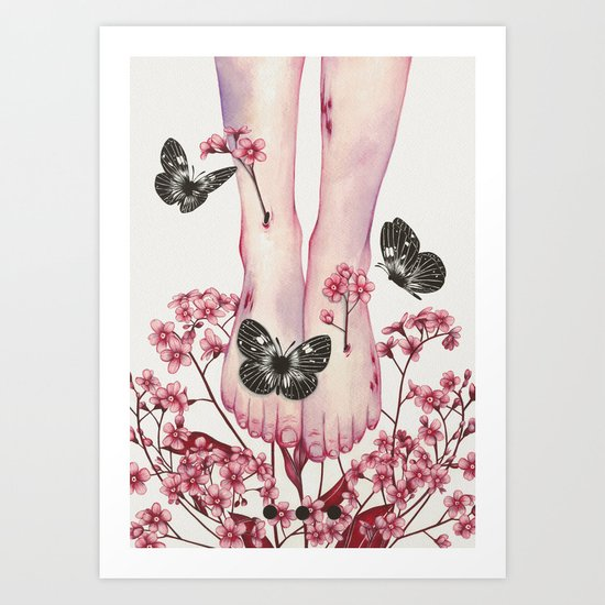 It Aches III Art Print