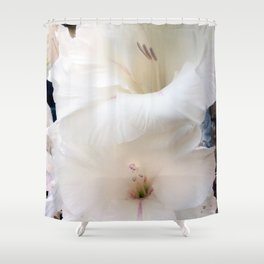 White Flower: Simple Beauty Shower Curtain