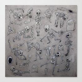 Skeleton Fun Canvas Print