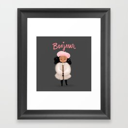 Bonjour! Framed Art Print