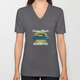 Vintage Wheels - Messerschmitt kr200 Unisex V-Neck
