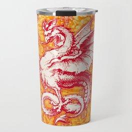 Noble House GINGER FIRE / Grungy heraldry design Travel Mug
