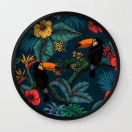 Tropical garden 2 Wall Clock