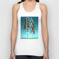 paradise Tank Tops featuring PARADISE by Chrisb Marquez