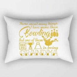 Bowling Grandma Rectangular Pillow