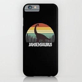 JANSENSAURUS JANSEN SAURUS JANSEN DINOSAUR iPhone Case