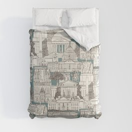 Washington DC toile juniper Comforters