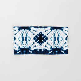 Velvet Shibori Blue Hand & Bath Towel