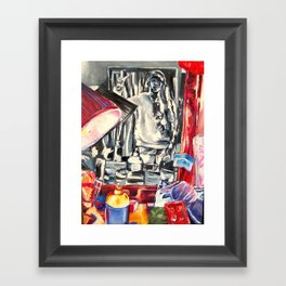 Through the mirror Framed Art Print
