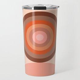 Abstraction_Circles_Tones_Minimalism_001 Travel Mug