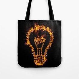 Fire Bulb Tote Bag