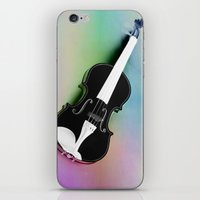 violin iPhone & iPod Skins featuring Violin by Christine baessler
