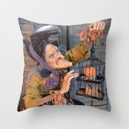 Rucus Studio Maddie the Eccentric Witch Throw Pillow