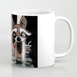 Raccoon at the movie theater Coffee Mug