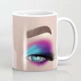 Colourful Eyeshadow Make-Up Look Coffee Mug