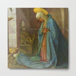 """Fra Filippo Lippi and Workshop """"The Nativity"""" Metal Print"""