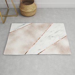 Spliced rose gold marble Rug