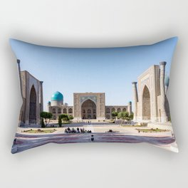 Sunset on Registan square - Samarkand, Uzbekistan Rectangular Pillow