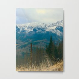 Tatra mountains in clouds Metal Print