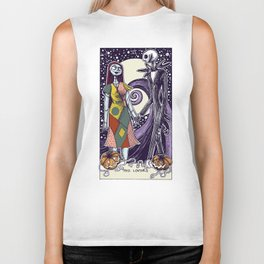 The Nightmare Before Christmas The Lovers Tarot Card Color Biker Tank