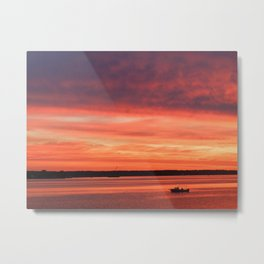 Rise and Grind Maryland Style Metal Print
