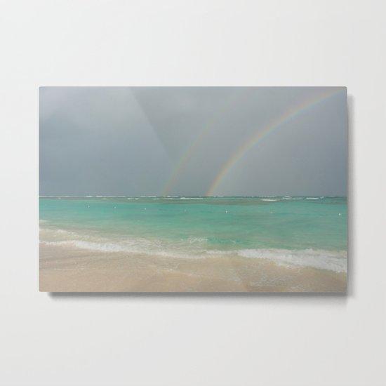 Double rainbow Punta cana Metal Print
