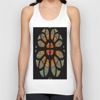 stained glass Tank Tops featuring stained glass by Joshua Arlington