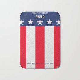 No608 My Creed minimal movie poster Bath Mat