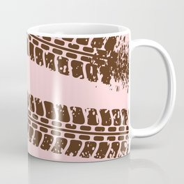 Mountain bike tyre marks Coffee Mug
