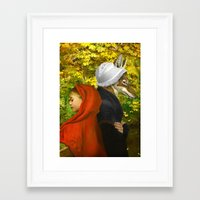 red riding hood Framed Art Prints featuring Red Riding Hood by Diogo Verissimo