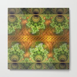 balls and stunning patterns in green and gold / orange Metal Print