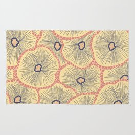 Abstract layered flowers pattern Rug