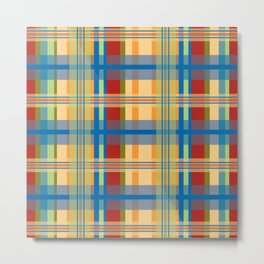 Plaid_Series 3 Metal Print