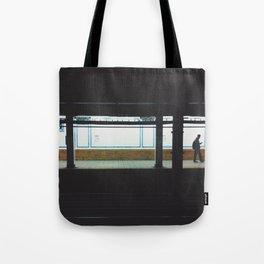 Columbia University Subway Platform Tote Bag