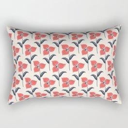 Beautiful Flower Pattern Art Design Rectangular Pillow