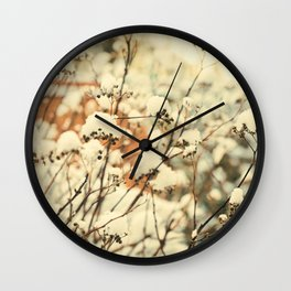 Vintage bush in the Snow Wall Clock