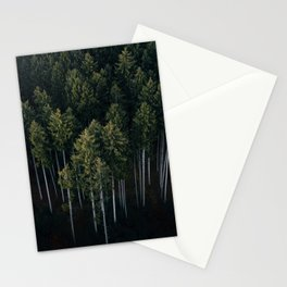 Aerial Photograph of a pine forest in Germany - Landscape Photography Stationery Cards