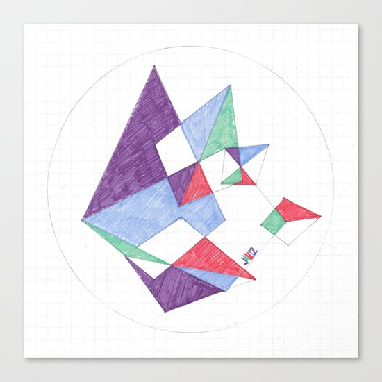 Kite-netic #1 Canvas Print