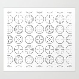 Sniper Scope Targets Art Print