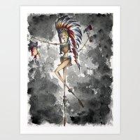 Pin Up Girl Art Print
